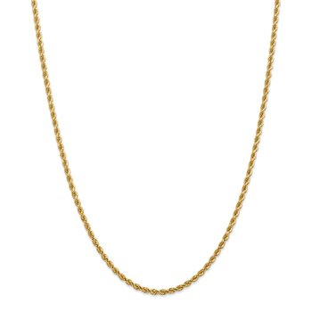 Leslie's 14K 2.75mm Diamond Cut Lightweight Rope Chain