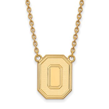 Gold-Plated Sterling Silver Ohio State University NCAA Necklace