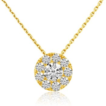 14k Yellow Gold .37 Ct. Clustaire Pendant