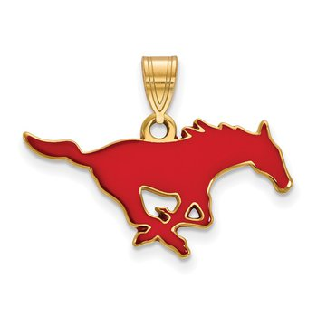 Gold-Plated Sterling Silver Southern Methodist University NCAA Pendant