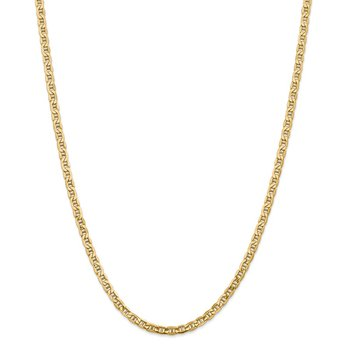 14k 4mm Semi-Solid Anchor Chain