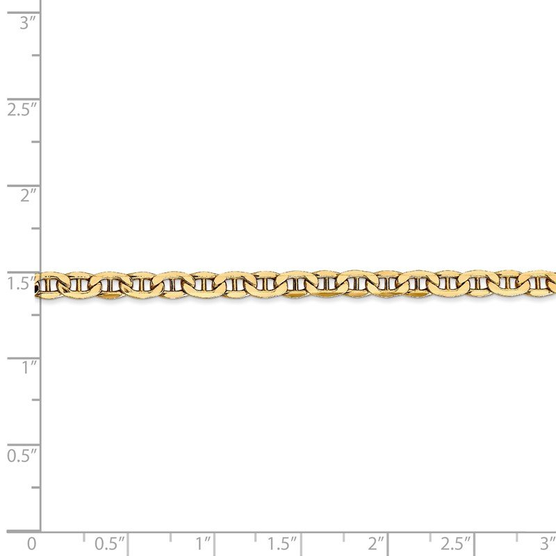 Quality Gold 14k 4mm Semi-Solid Anchor Chain