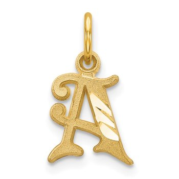 14k Letter A Initial Charm