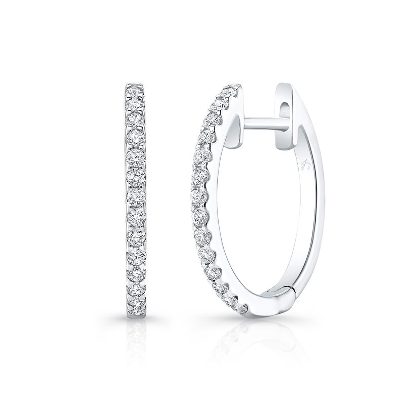 Robert Palma Designs White Gold 1/2 Inch Oval Hoops