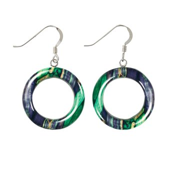 Hoop Sterling Silver Drop Earrings