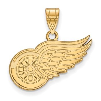 Gold-Plated Sterling Silver Detroit Red Wings NHL Pendant