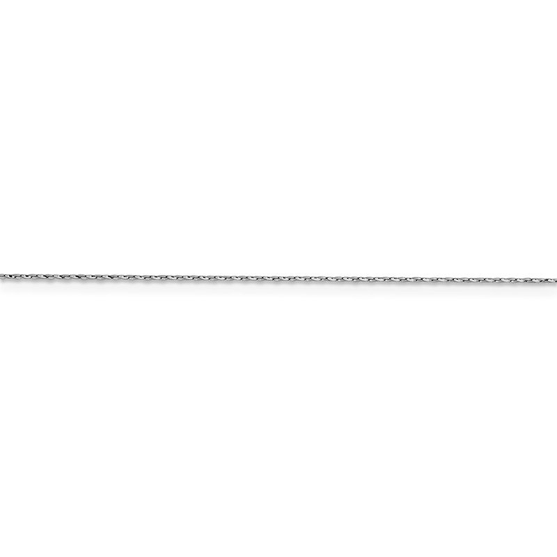 Leslie's Leslie's 14K White Gold .6 mm D/C Twisted Box Chain