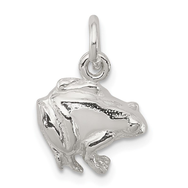 Quality Gold Sterling Silver Frog Charm