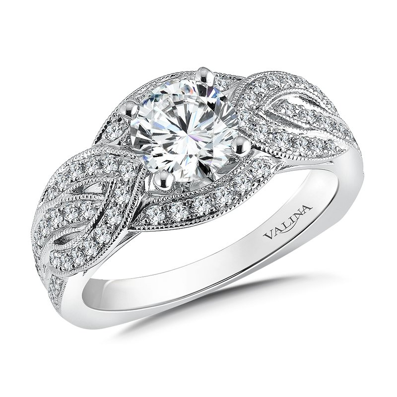 Valina Diamond Engagement Ring Mounting in 14K White Gold (.41 ct. tw.)