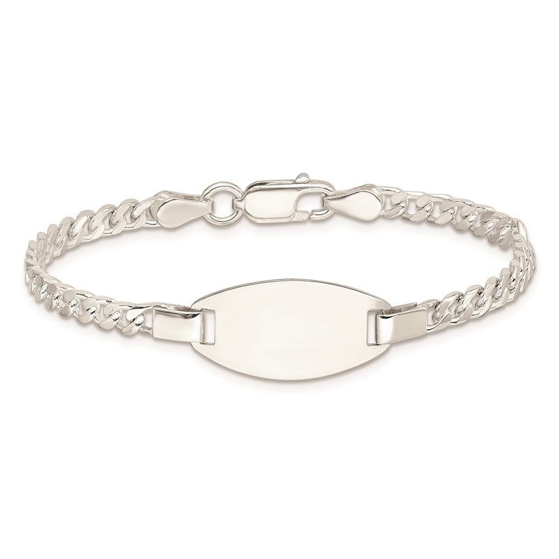 Quality Gold Sterling Silver Childrens 5in Plus 1in Ext ID Bracelet