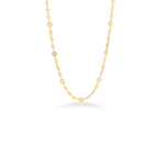 Roberto Coin 18Kt Gold Necklace With 10 Round Stations And 1 Square Diamond Station