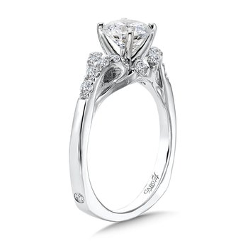 Modernistic Collection Diamond Split Shank Engagement Ring in 14K White Gold with Platinum Head (1ct. tw.)