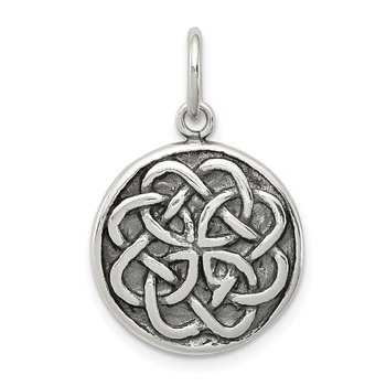 Sterling Silver Antiqued Celtic Knot Charm