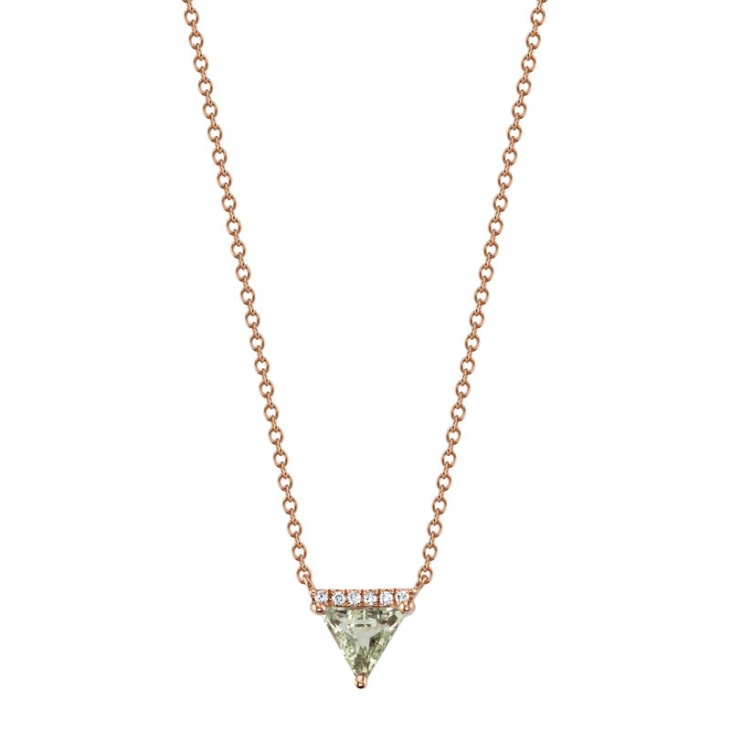 MARS Jewelry MARS 27250 Pendant Necklace, 0.03 Dia, 0.55 Green Am.