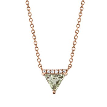 MARS 27250 Pendant Necklace, 0.03 Dia, 0.55 Green Am.