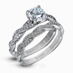 Simon G MR1498-D WEDDING SET