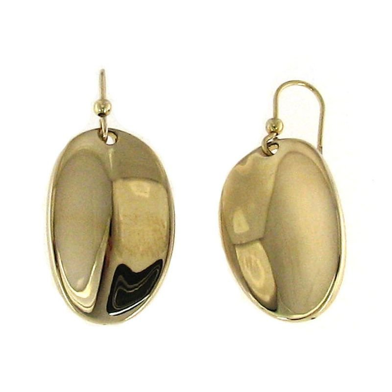 Roberto Coin 18KT GOLD OVAL DROP EARRINGS