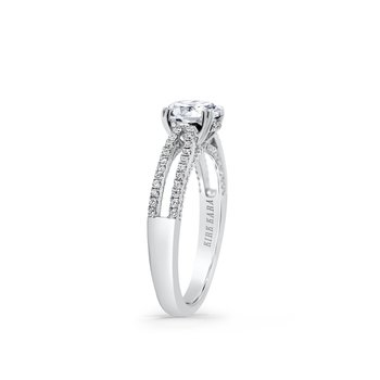 Kirk Kara 18K White Gold Diamond Engagement Ring