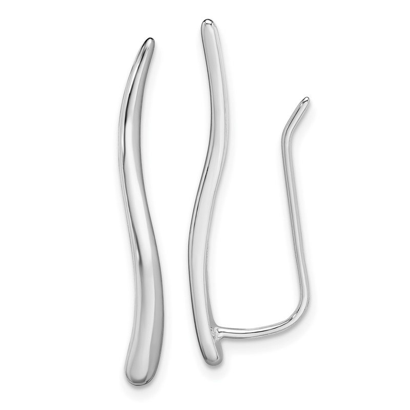 J.F. Kruse Signature Collection Sterling Silver Rhodium-plated Ear Climber Earrings