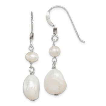 Sterling Silver FW Cultured Pearl Dangle Earrings