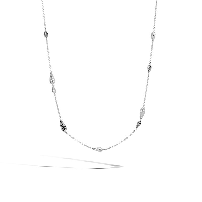 JOHN HARDY Classic Chain Long Necklace in Hammered Silver