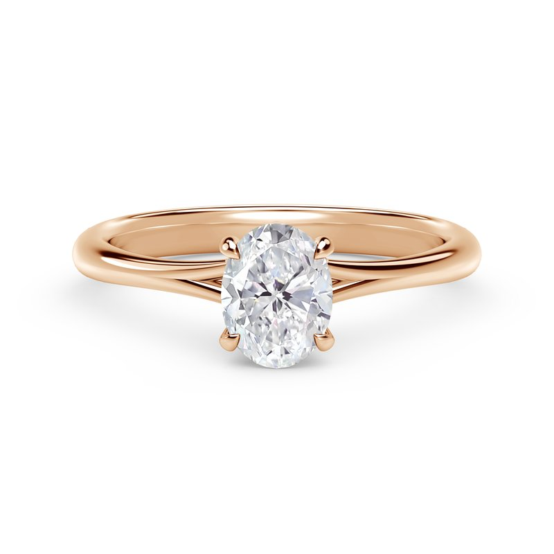 Forevermark Engagement and Commitment Forevermark Icon™ Setting Oval Engagement Ring with Diamond Basket