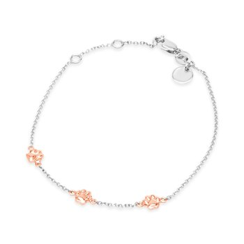 Rose Trio of Paws Bracelet