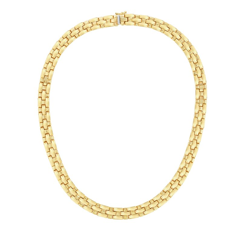 Royal Chain 14K Gold Basketweave Necklace