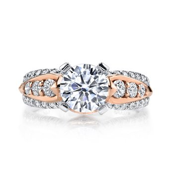 MARS R253 Diamond Engagement Ring, 0.82 Ctw.