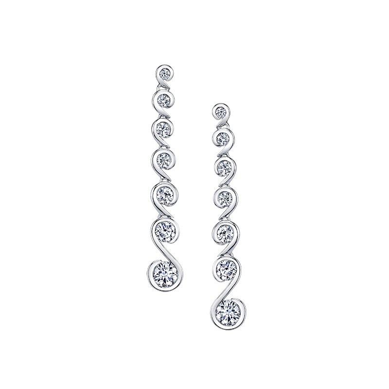 Maple Leaf Diamonds Diamond Tides Of Love Earrings
