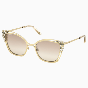 Nile Cat Eye Sunglasses, SK163-P 32G, Light Gold