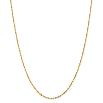 14k 2.00mm D/C Quadruple Rope Chain Anklet