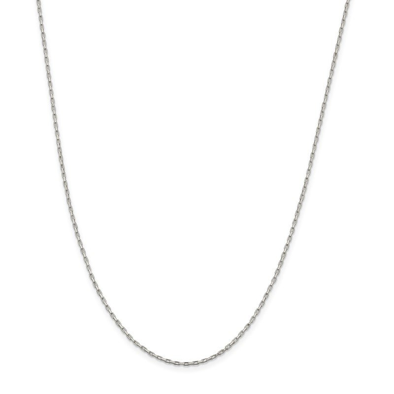 Quality Gold Sterling Silver 1.3mm Elongated Box Chain