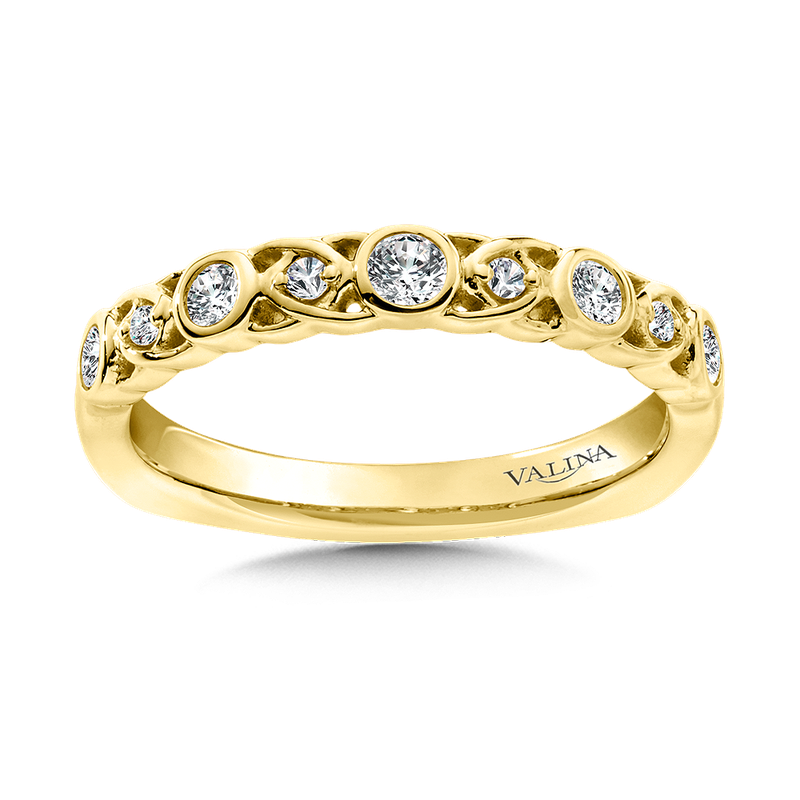 Valina Stackable Wedding Band in 14K Yellow Gold (.24 ct. tw.)