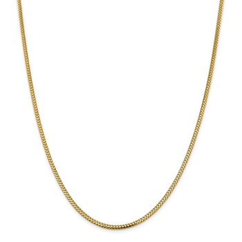 14k 2.3mm Franco Chain