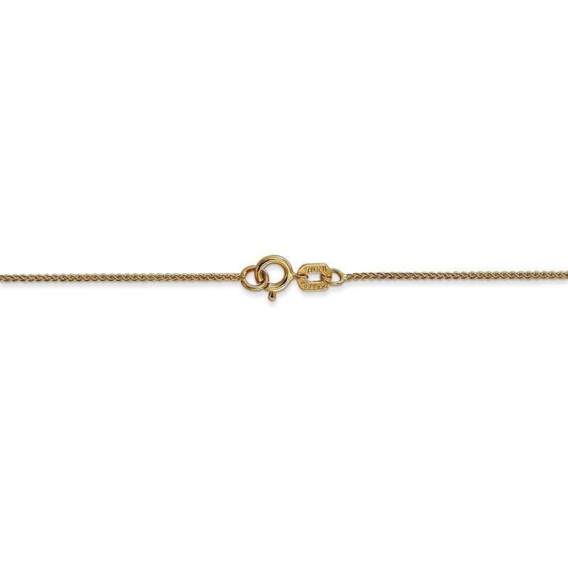 Quality Gold 14k .80mm Spiga with Spring Ring Clasp Chain