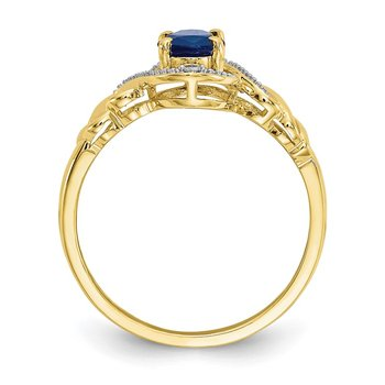 10K Sapphire and Diamond Ring