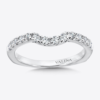 Diamond and 14K White Gold Wedding Band (0.34 ct. tw.)