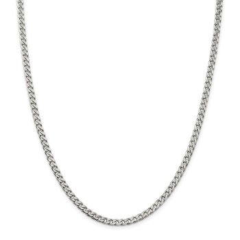 Sterling Silver Polished 3.5mm Curb Chain