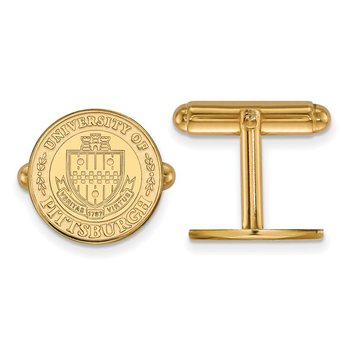 Gold University of Pittsburgh NCAA Cuff Links