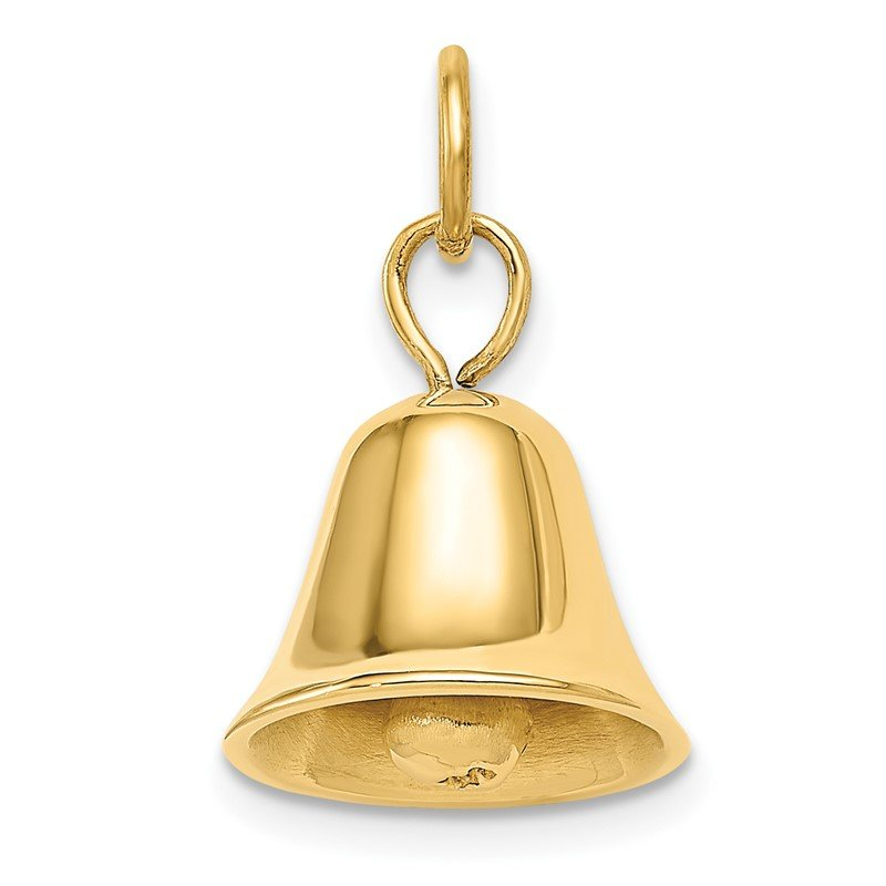 Quality Gold 14k Moveable 3D Wedding Bell Charm