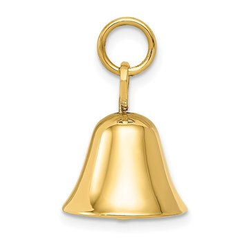 14k Moveable 3D Wedding Bell Charm