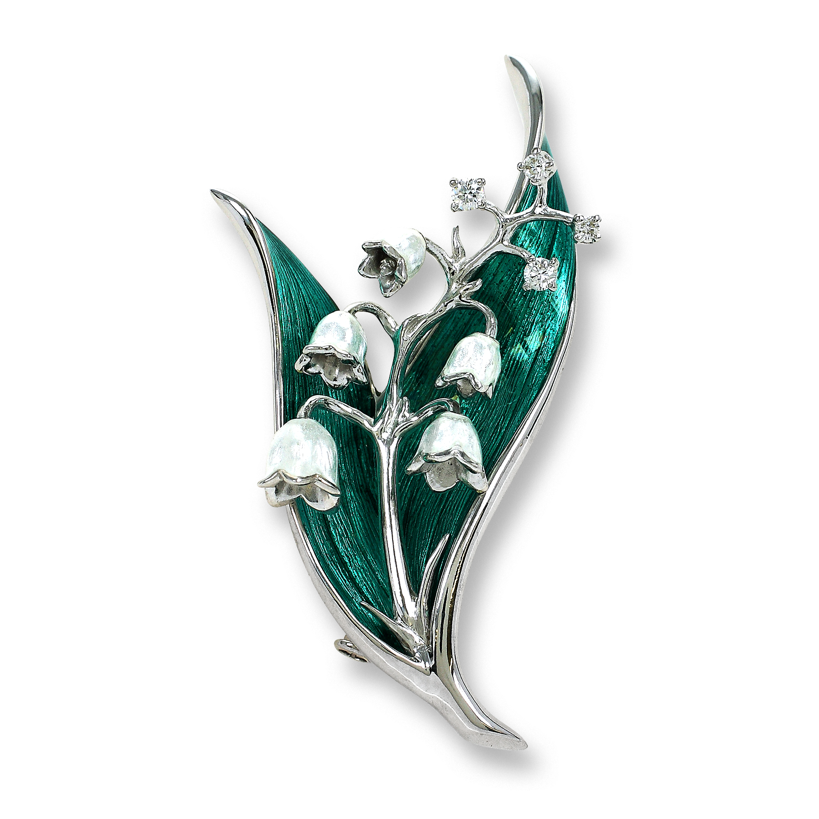 Nicole Barr Sterling Silver Brown Horse Brooch Set With Diamond Fine Jewelry Jewelry & Watches