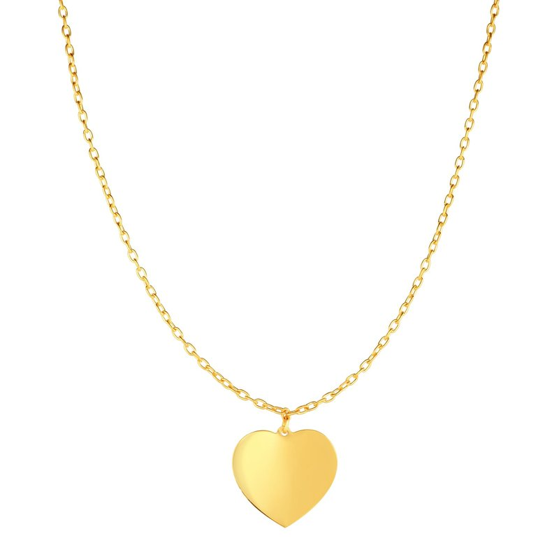 Royal Chain 14K Gold Heart Choker