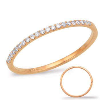 Pink Diamond Wedding Band