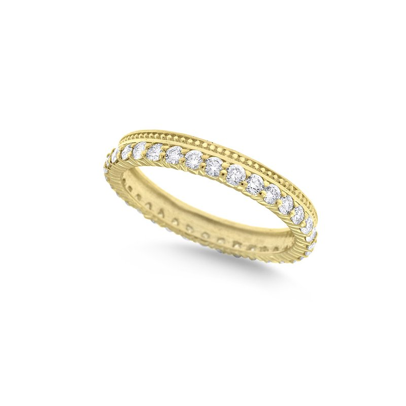 KC Designs Diamond Stack Ring in 14K Yellow Gold with 34 Diamonds Weighing .75ct tw