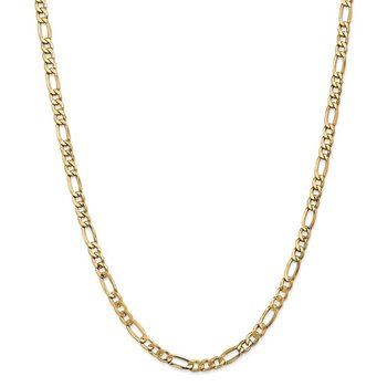 Leslie's 14k 5.35mm Semi-Solid Figaro Chain