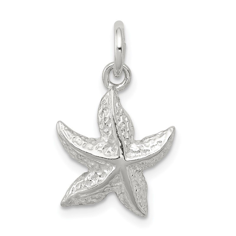 Quality Gold Sterling Silver Starfish Charm