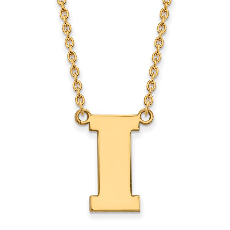 NCAA Gold-Plated Sterling Silver University of Iowa NCAA Necklace