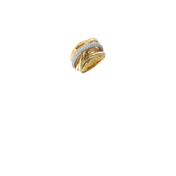 #26545 Of 18Kt Gold Diamond Twist Ring